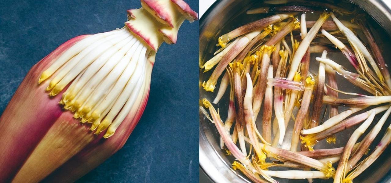 banana-blossom-into-vegan-food